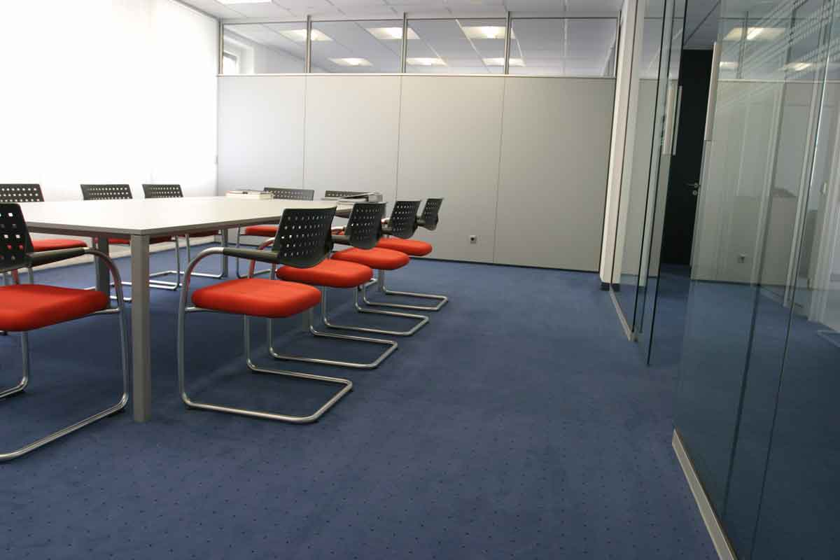 commercial cleaning in small conference room in santa monica