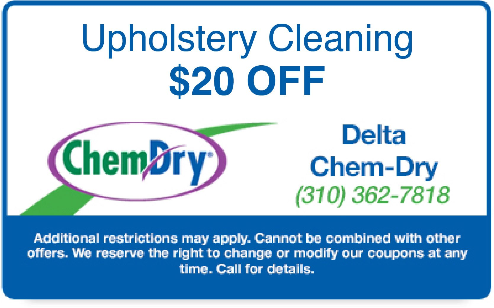 $40 Off Carpet & Upholstery Cleaning Coupon